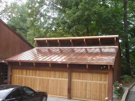 Standing seam copper roof roland park fick bros for Copper standing seam roof